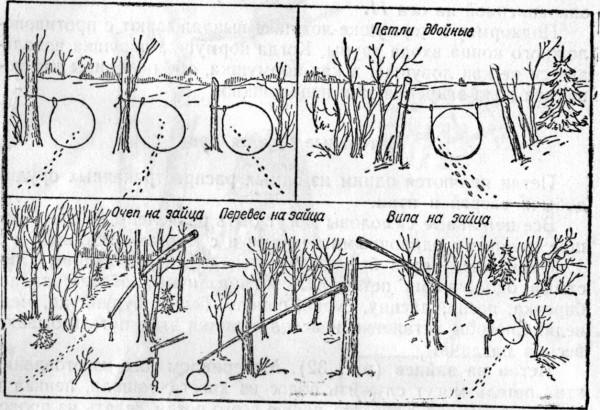 Схемы петель на зайца