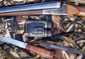 Бинокль и ружья