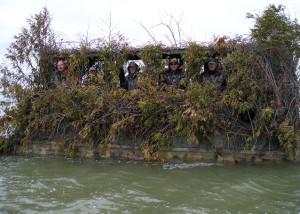 Засада при охоте на утку