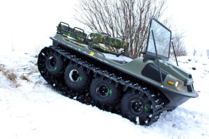 Вездеход в снегу